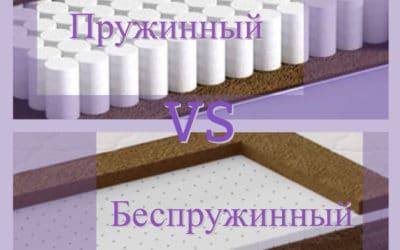 Пружинный или беспружинный?..Как выбрать матрас